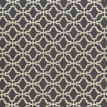 Schumacher Sarana Linen Embroidery Carbon Fabric