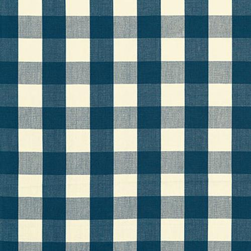 Schumacher Camden Cotton Check Indigo Fabric - Fabric