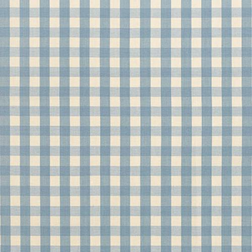 Schumacher Elton Cotton Check Chambray Fabric - Fabric