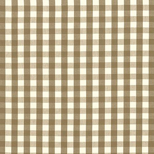 Schumacher Elton Cotton Check Mocha Fabric - Fabric