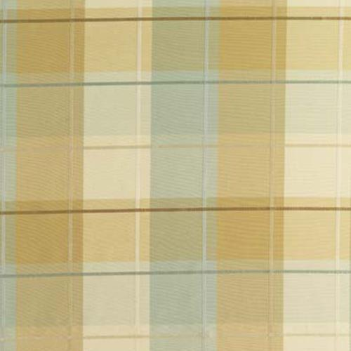 Schumacher Coin Silk Plaid Aqua Fabric - Fabric