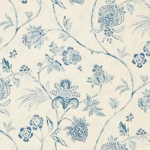 Schumacher Chinoiserie Vine China Blue Fabric - Fabric