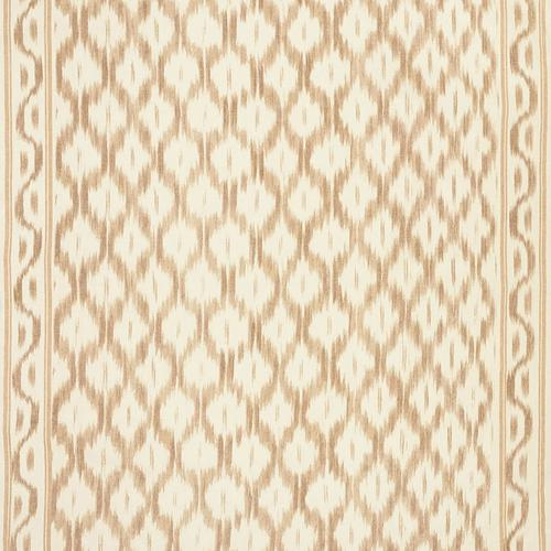 Schumacher Santa Monica Ikat Neutral Fabric - Fabric