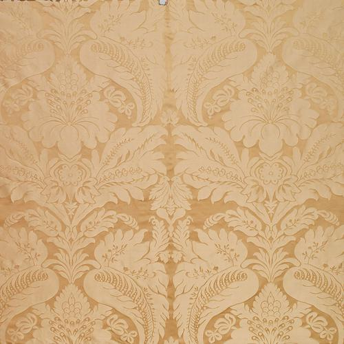 Schumacher Bennet Silk Damask Travertine Fabric - Fabric
