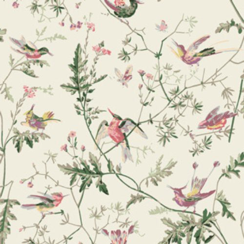 Cole & Son Hummingbirds Classic Multi Fabric - Fabric