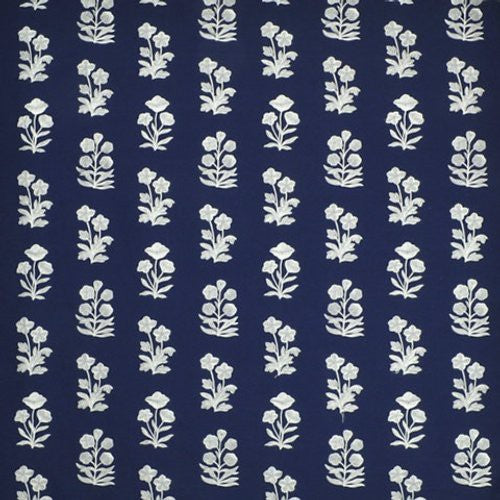 Ralph Lauren Blue Grotto Embroide Royal Blue Fabric - Fabric