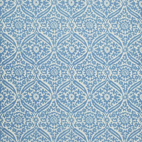 Ralph Lauren Costiero Damask Sky Fabric - Fabric