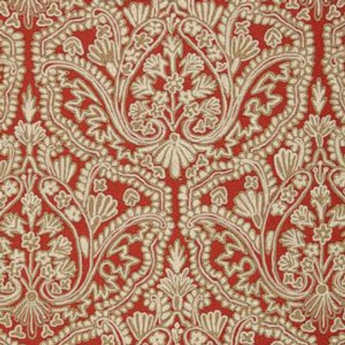 Schumacher Claremont Crewel Embroidery Tuscan Fabric - Fabric