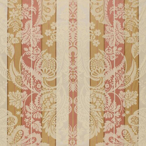 Schumacher Savannah Imberline Damask Rose Quartz Fabric - Fabric