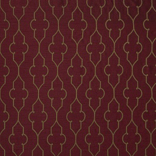 Fabricut Akers Lattice Merlot Fabric - Fabric
