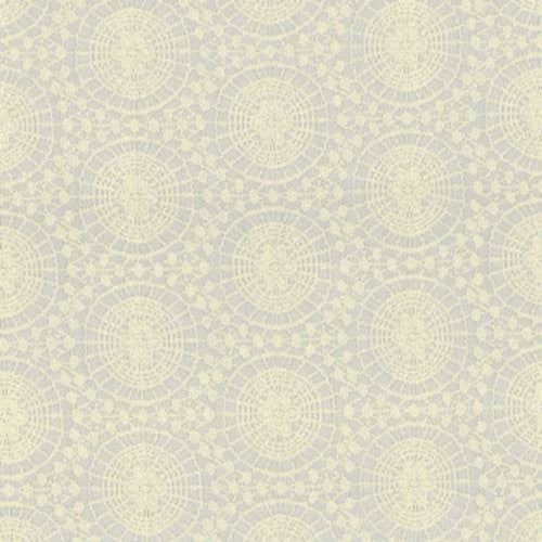 Kasmir Spinning Wheel Ivory Fabric - Fabric