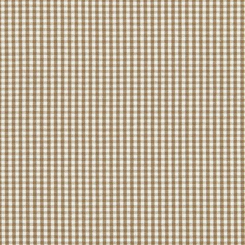Schumacher Barnet Cotton Check Mocha Fabric - Fabric