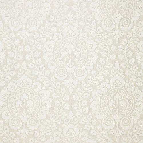 Schumacher Amalfi Damask Natural Fabric - Fabric