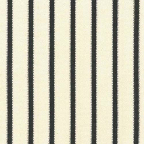 Kasmir Stripe Delight Black Fabric - Fabric