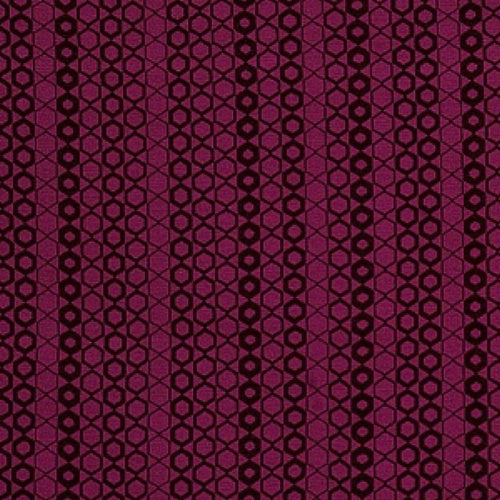 Fabricut Hexagon Magenta Fabric - Fabric