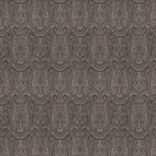Stroheim Ayrshire Paisley Charcoal Fabric - Fabric