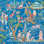 Schumacher Yangtze River Peacock Fabric