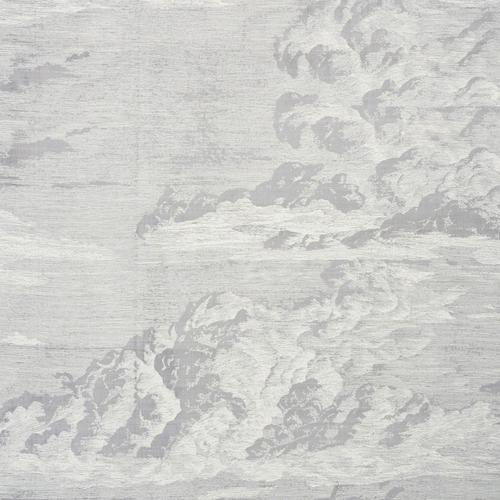 Schumacher Cloud Toile Fog Fabric - Fabric