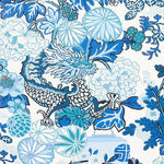 Schumacher Chiang Mai Indoor/Outdoor China Blue Fabric