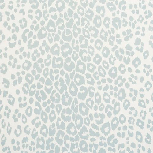 Schumacher Iconic Leopard Indoor/Outdoor Sky Fabric - Fabric