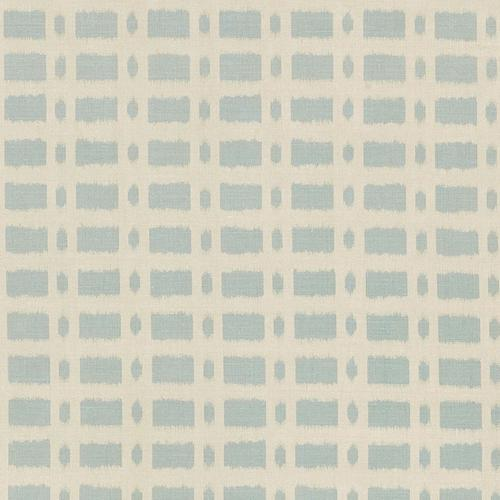 Schumacher Townline Road Blue Fabric - Fabric