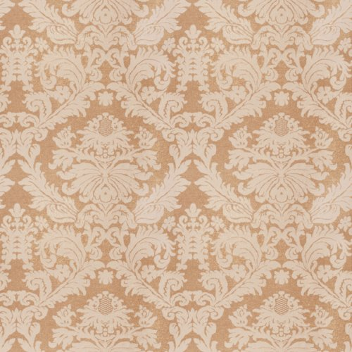 Vervain Laurel Damask Fieldstone Fabric - Fabric