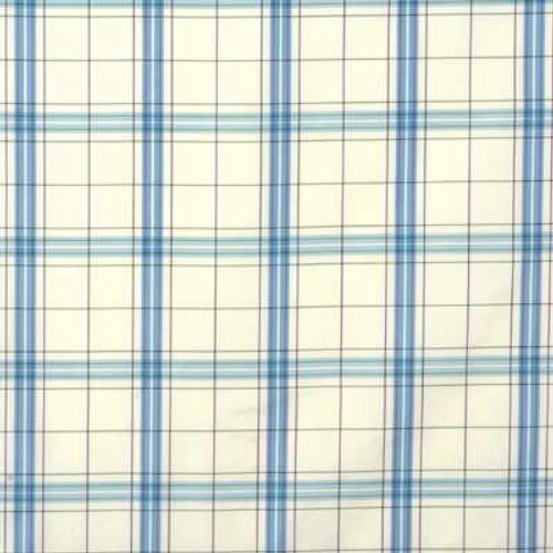 G P & J Baker Clifton Check Aqua/Plum Fabric - Fabric