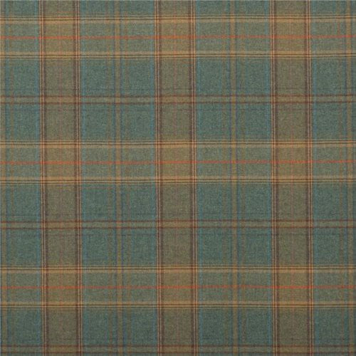 Mulberry Shetland Plaid Teal Fabric - Fabric