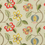 G P & J Baker Elvaston Red/Slate/Citron Fabric