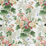 Lee Jofa Hollyhock Hdb White/Coral Fabric