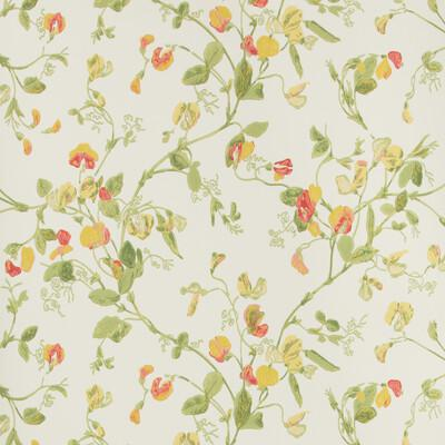Cole & Son Sweet Pea Pink & Yellow Wallpaper - Wallpaper