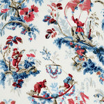 Schumacher Plaisirs De La Chine Bleu & Rouge Fabric