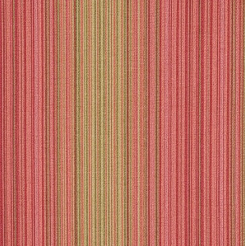Fabricut Stocks & Bonds Raspberry Fabric - Fabric