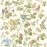 Cole & Son Winter Birds Multi-Coloured Wallpaper