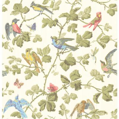 Cole & Son Winter Birds Multi-Coloured Wallpaper - Wallpaper