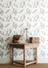 G P & J Baker Ferns Dove Grey/Silver Wallpaper