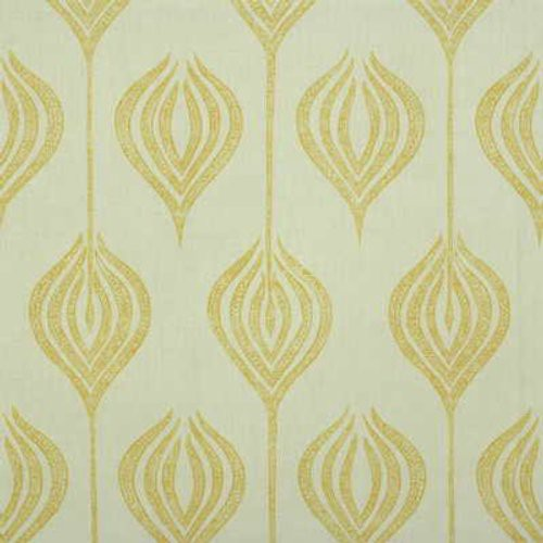 Groundworks Tulip White/Yellow Fabric - Fabric