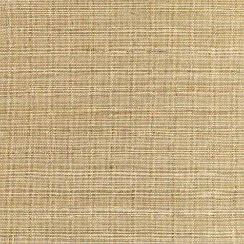 Scalamandre Metal Sisal White Gold Wallpaper - Wallpaper