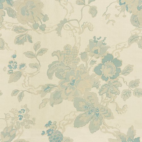 Lee Jofa Parnham Blue/Oyster Fabric - Fabric