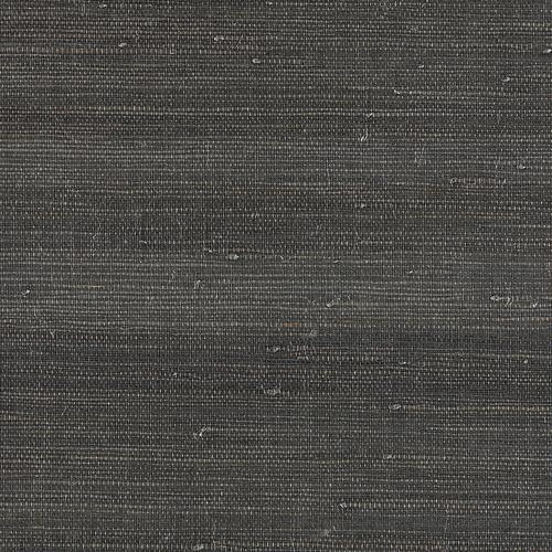 Scalamandre Textured Sisal Anthracite Wallpaper - Wallpaper