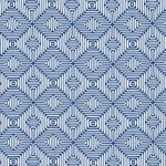 Schumacher Amazing Maze Ocean Fabric