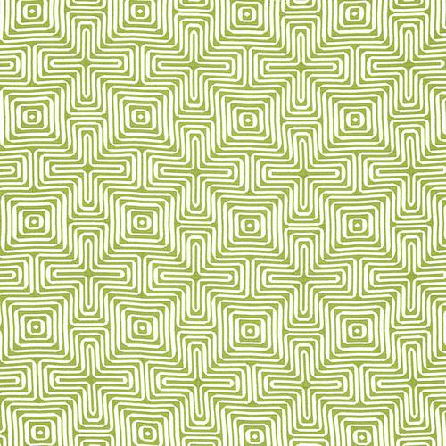 Schumacher Amazing Maze Palm Fabric - Fabric