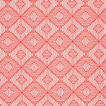 Schumacher Amazing Maze Coral Fabric