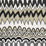 Schumacher Zig Zag Weave Black Sea Fabric