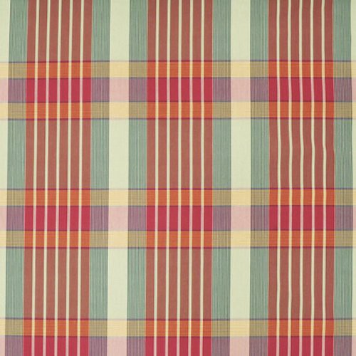 Ralph Lauren Nile Valley Plaid Red Tide Fabric - Fabric