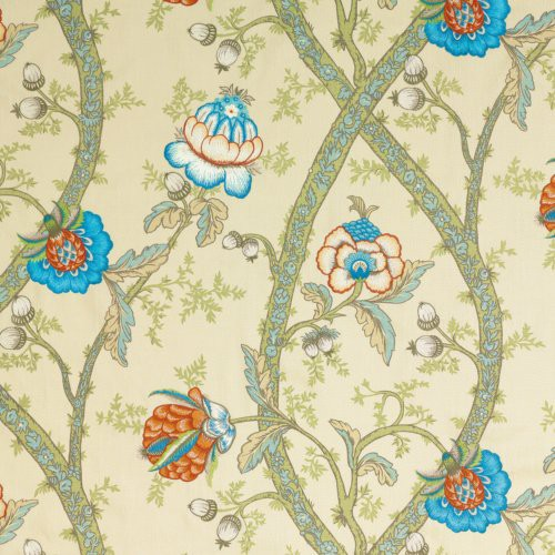 G P & J Baker Carisbrooke Green/Turquoise Fabric - Fabric