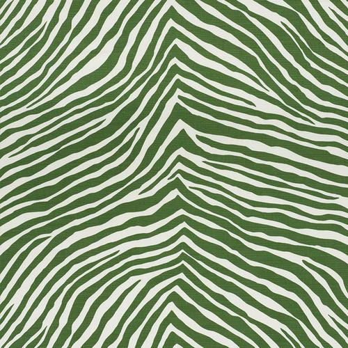 Schumacher Iconic Zebra Green Fabric - Fabric