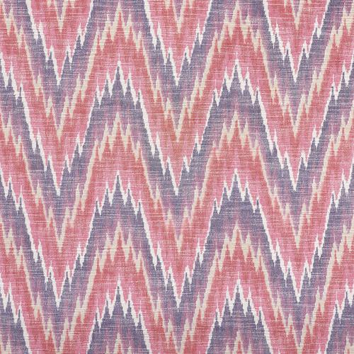 Schumacher Ibiza Flamestitch Berry Fabric - Fabric