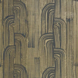 Groundworks Crescent Paper Ebony/Gold Wallpaper