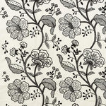 Schumacher Full Bloom Embroidery Ink Fabric
